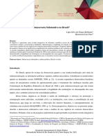 Democracia substantiva no Brasil?