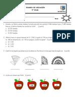 Examen de Matemática de UBICACIÓN. 2018