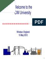 CIM Standards Overview CIM U Windsor Part 1
