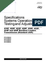 416F-444F Transmission (Standard Shift) UENR2302
