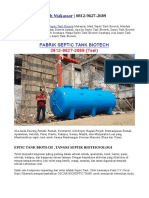 Septic Tank Biotech Makassar | 0812-9627-2689