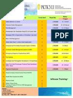 Jadwal Training PKTK3 2018 1