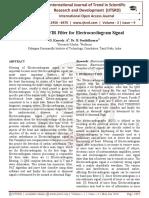 An Efficient FIR Filter for Electrocardiogram Signal
