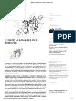 Analisis Pedagogia Del Oprimido - German Sanhueza Munoz