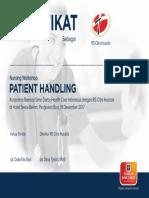 Sertifikat Patient Handling