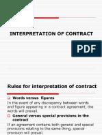 Lec 2 - Interpretation of Contract