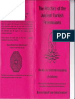 The Practice of Ancient Turkish Freemasons