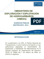 Audiencia Pública Gestión 2012 -2015