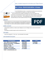 Formation Linux Administration Niveau 1