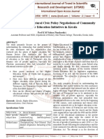 Posulating The Structural Civic Policy Negotiations of Community Higher Education Initiatives in Kerala