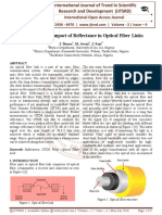 Analysis on The Impact of Reflectance in Optical Fiber Links