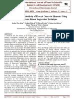 Framework for Productivity of Precast Concrete Elements Using Multivariable Linear Regression Technique