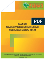 Cover Program Kerja Keselamatan Dan Kesehatan Kerja Rumah Sakit (K3RS) Tahun 2018