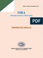 Mba Ib 2019 21 Prospectus
