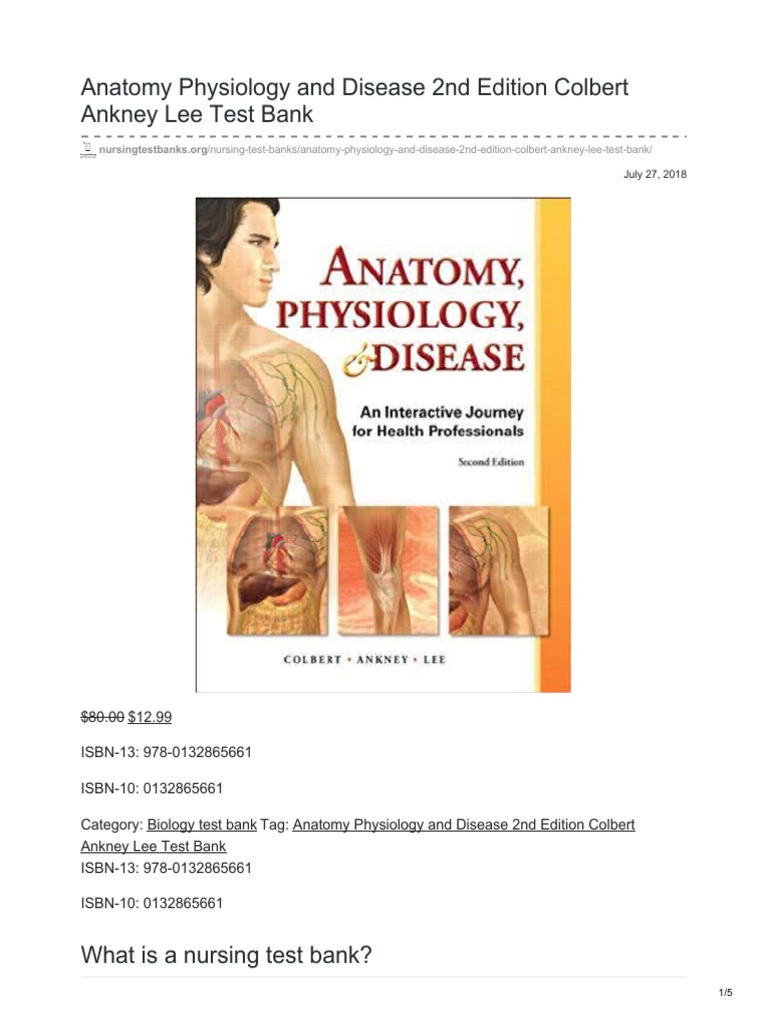 Nursingtestbanks.org-Anatomy Physiology and Disease 2nd Edition ...