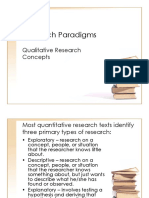 Research Paradigms