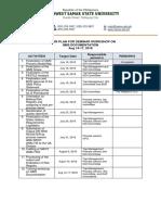 Action Plan for Seminar Workshop on Qms Documentation