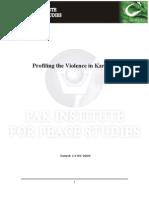 Profiling Killing in Karachi