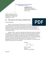 FERC Partial Approval of Stabilization Plan