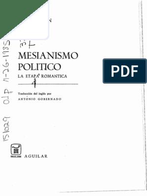 Mesianismo Político La Etapa Romántica J L Talmon
