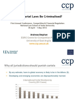 Andreas Stephan - Should Cartel Laws Be Criminalised