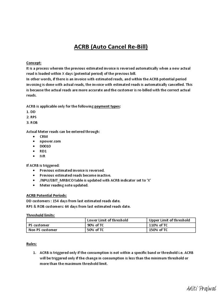 ACRB Standardized Process Document | Business