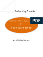 Estimation of Glucose by Folin Wu Method