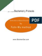 Estimation of Glucose by Folin Wu Method