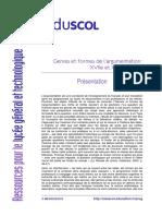 Francais Argumentation Presentation 2nde 448752