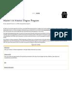 _Master's in Finance Degree Program - School of Business - University of San Diego