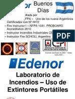 Edenor- Laboratorio de Incendio - Uso de Extintor Portatil - Agosto 2018