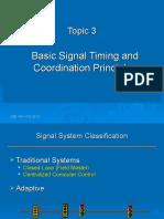 Topic 3 - Signal Coordination