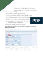 SAP - Vendor to Customer Configuration