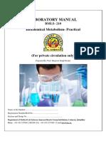 Lab Manual Biochemistry for 2 Sem