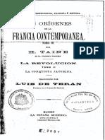 Los orígenes de la Francia contemporánea. La conquista jacobina - Hippolyte Taine