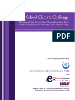 School Climate Challenge Policy Paper