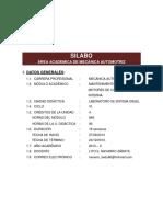 Silabo-laboratorio de Sistema Diesel