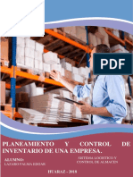 Planeamiento y Control de Inventarios