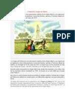 Fiesta de La Virgen de Fátima