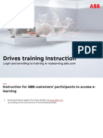 ABB Drives Training - Instruction for Login and Enrolling to Training