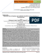 Bacterial Flora in Sputum and Antibiotic Sensitivity in Exacerbations of Bronchiectasis