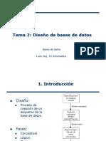 Tema 2 Diseño de Base de datos ER.