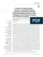 The impact of initial energy reserves on growth hormone resistance and Plasma growth hormone-Binding Protein levels in rainbow Trout Under Feeding and Fasting conditions