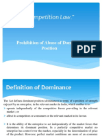 Competition Law - Abuse of Dominant Position