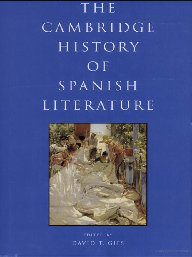 The Cambridge History of Spanish Literature   PDF   Spanish ...