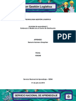 Desarrollo Evidencia 5 Modelo de Un Centro de Distribucion