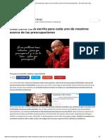 Dalai Lama Carta Escrita Para Cada Uno de Nosotros Acerca de Las Preocupaciones - El Mundo Del Yoga