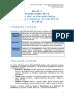 Temario Matematica Nb1 Ve 2018