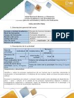 Guía Actividades y Rúbrica Evaluación Final