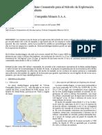 Diseño de Losas de Relleno Cementados para el Método de Explotación Corte y Relleno Descendente de la Mina Andaychagua